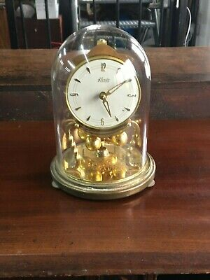 Kundo Mantle Clock With Glass Dome Case For Spares Or Repair