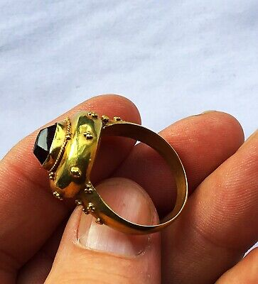 RARE PHONEX SOLID GOLD ROMAN RING c 1st /3rd Cent AD.10.1 Grms With Intaglio.