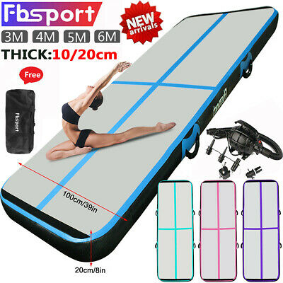 10/13/16/20ft Airtrack Air Track Floor Inflatable Home Gymnastics Tumbling Mat