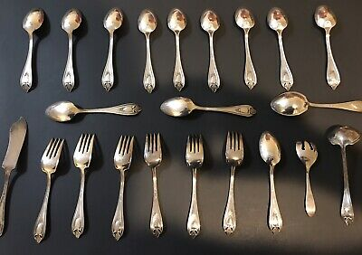 Vintage 1847 Rogers Bros 22 Total Pieces - Triple Silver Plated - Ornate Design