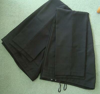 Two pairs of black work trousers size 18 Long