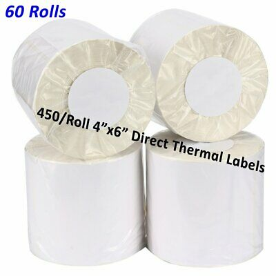 48 Rolls 12000 Direct Thermal Labels 4x6 Compatible For Zebra LP2844 ZP450