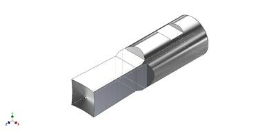 """1/2"""" Square Rotary Broach Punch Fits 1/2"""" Shank Holder - Made in USA - S05045B"""