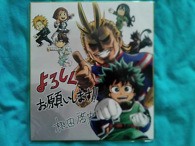My Hero Academia Shikishi Kohei Horikoshi Autograph Midoriya All Might Shoto