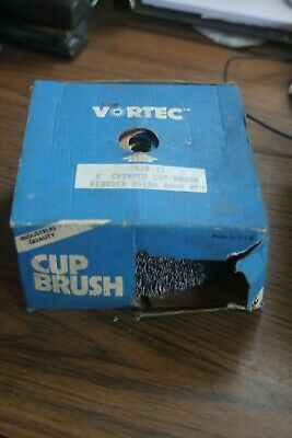 "Vortec Weiler 6"" Crimped Cup Brush 5/8-11 Arbor 30190"