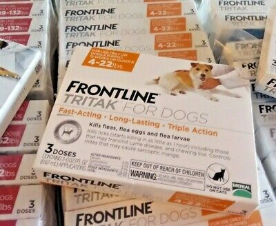 FRONTLINE Tritak 3 doses pack for Dogs 4-22lbs **SEALED NEW**