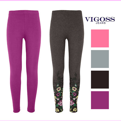 NEW - Vigoss Girls 2 Pack Soft Cotton Leggings Various size and colors