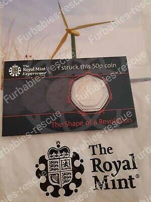 2019 Royal Mint Strike Your Own 50 Years Of The 50p coin. RARE LIMITED EDITION