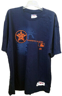 Houston Astros MLB Majestic Blue Authentic Collection T-Shirt, Size 2XL