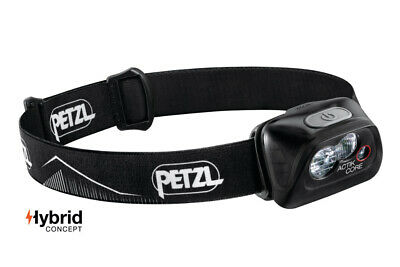 Petzl ACTIK Core 450 Lumens Headlamp Black Lightweight Mens Womens Running Lamps