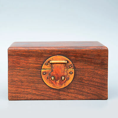 Collectable China Rare Ancient Boxwood Handwork Carving Delicate Noble Royal Box