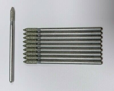 "10 Piece Lot Of Dremel #7144 Diamond Wheel Points 3/32"" Taper End (3/32"" Shank)"