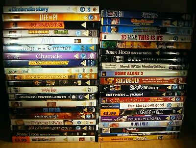 Joblot of 40 DVDs Various titles all rated PG