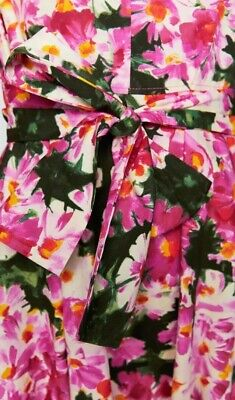Zara Pink Green Multi Floral Printed Dress With Belt, Size XS-BNWT, RP £60