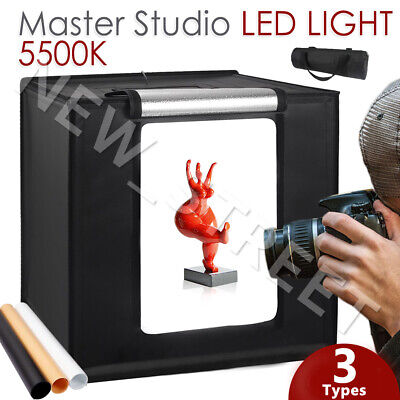 3 Types Portable LED Light Tent Photography Studio Lighting Room Cube Soft Box