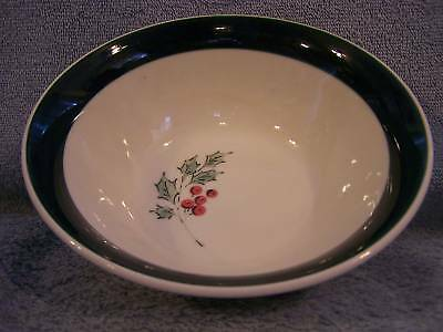 """Gibson Holiday Accent Green (4) Cereal or Soup Bowls, 7"""""""