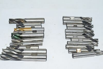 Lot of 23 Roughing End MIlls, 1/2'' & Smaller Mixed Lot