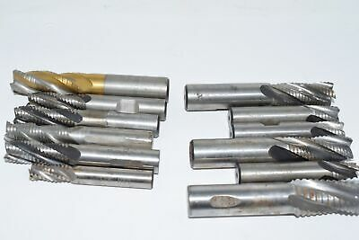 Lot of 12 Roughing End MIlls, 5/8'' 1/2'' Mixed Lot