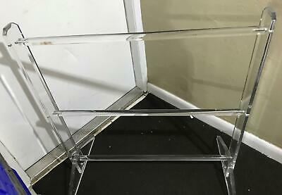 Vtg Mid Century Modern Lucite Acrylic Towel Blanket Rack Bedroom Decor