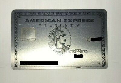 Custom New American Express Platinum Card Metal- Rare AmEx Credit Charge