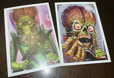 NYCC 2019 Topps Mars Attacks : Uprising Bundle Of 2