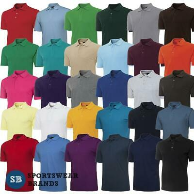 Mens Classic Polo Shirt Comfortable Easy Care Casual Top Plain Colours New 210