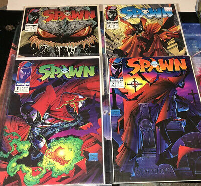 Spawn #1 - #4 1992 Image Comic Lot First App Spawn McFarlane New Movie Coming