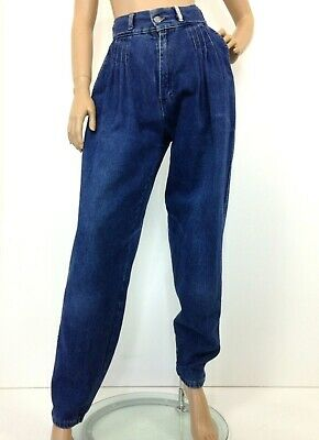 Vintage high waistd mom jeans by Sandi Surf Co pleated front label size 15