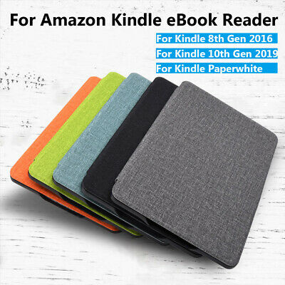 """For Amazon Kindle Paperwhite 10th Gen 2019 6"""" e-Reader Leather Smart Case Cover."""