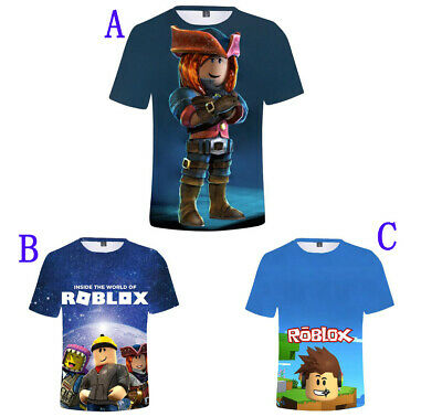 ROBLOX Gamer Kids 3D Fashion Casual Loose Cotton T-Shirt Short Sleeved Cute Top