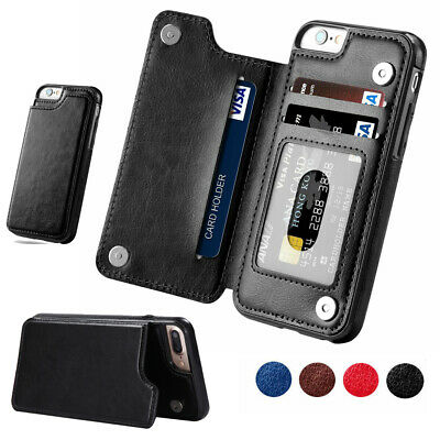 Leather Flip Wallet Card Holder Case For iPhone 11 Pro XS Max X XR 8 7 6S Plus