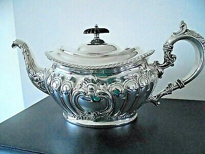 Superb Ornate Antique Silver Plated Teapot