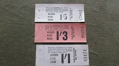 Three Vintage Paper Buss Tickets Ryde - Parramatta Bus Service Buses For Hire.