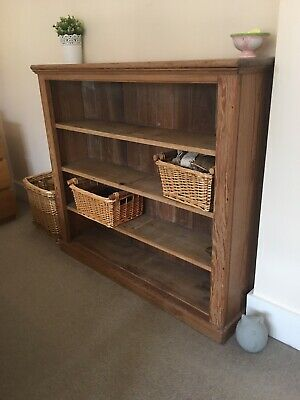 Victorian Pitch Pine Bookcase
