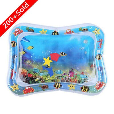 Inflatable Baby Kids Water Play Mat Children Infants Tummy Time Playmat Toys UK