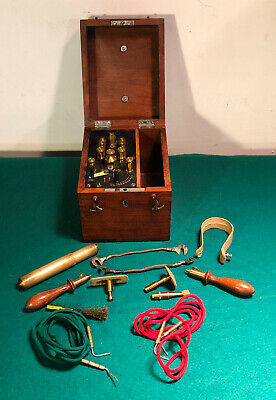 Antique Electric Coil Quack Medical Shock Device in Cabinet