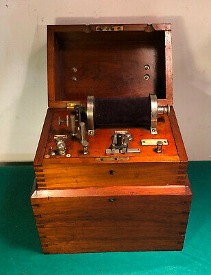 Antique Electric Medical Coil Quack Medical Shock Device Professor Richard, M.E.