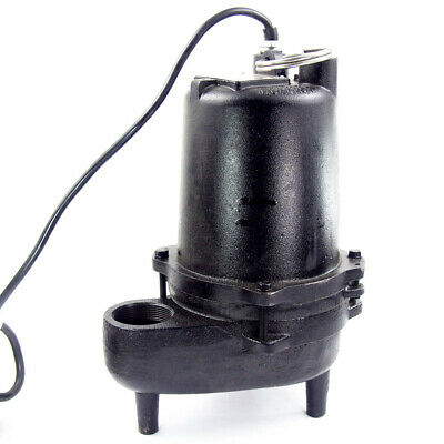 Dayton 4HU79 Submersible Sewage Pump 4/10 HP Manual 120V
