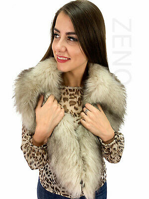 Faux Fur Arms Sleeves With Scarf High Quality Italian Faux Fur