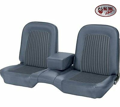 1968 Ford Mustang Front Bench Seat Upholstery Blue Made by TMI