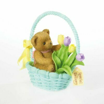Cherished Teddies BETTY LOU - Special Delivery - bear in Easter basket 4020589