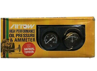 Vintage Arrow High Performance Oil Pressure And Ammeter