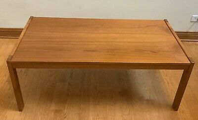 Mid Century Modern, Made in Denmark, Danish Teak Coffee Table, Simple and Clean