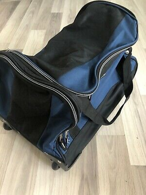 Travelers Club Xpedition 20 inch rolling duffle bag Blue