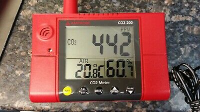 AMPROBE CO2-200 Carbon Dioxide Meter,380 to 2000 PPM