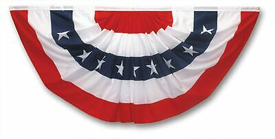 Valley Forge American Fan Flag 3' x 6' Polycotton Sentinel 100% Made In U.S.A...