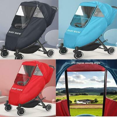 Baby Pushchair Buggy Stroller Pram Transparent Rain Cover Raincoat Windshield