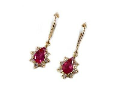 Pink Tourmaline Earrings Ancient China Last Empress Gem Antique Gemstones 14kt
