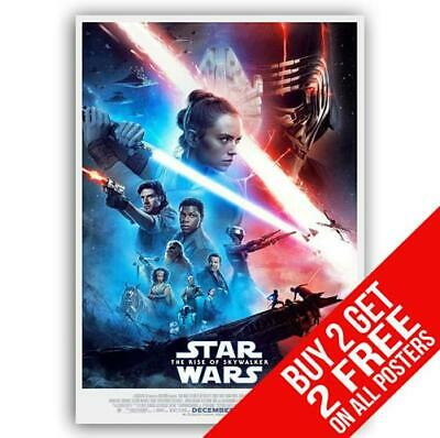 Star Wars The Rise Of Skywalker Poster Print A4 A3 Size -Buy 2 Get Any 2 Free
