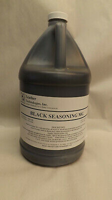 1 Gallon Leather Technologies Black Seasoning MG, Dye,Pigment Commercial Grade